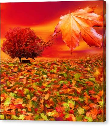 Autumnal Scene Canvas Print