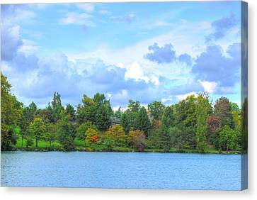 Canvas Print featuring the photograph Autumn's Beauty At Hoyt Lake by Michael Frank Jr