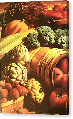 Canvas Print featuring the photograph Autumn's Bounty by Sharon Duguay