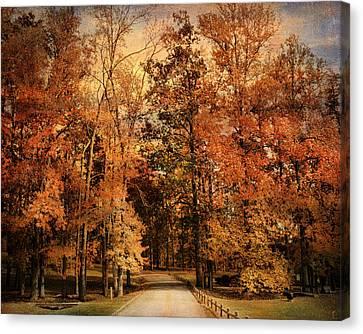 Autumn's Entrance Canvas Print by Jai Johnson