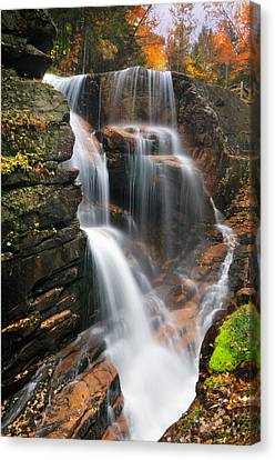 Avalanche Falls - Franconia Notch Canvas Print by Thomas Schoeller