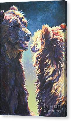 North American Wildlife Canvas Print - Ava's Lesson by Patricia A Griffin