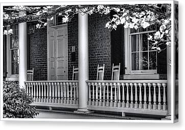 Avenel Porch - Bedford - Virginia Canvas Print by Steve Hurt