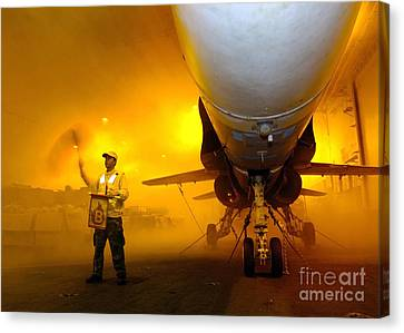 Aviation Boatswains Mate Waves Class Canvas Print by Stocktrek Images