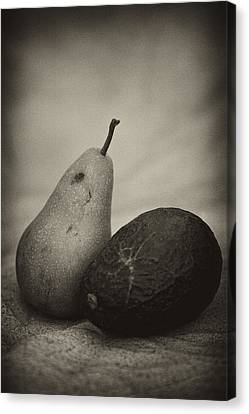 Canvas Print featuring the photograph Avocado And Pear by Hugh Smith