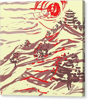 Awakening Hill Canvas Print by MURUMURU By FP