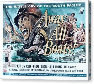 Away All Boats, Jeff Chandler, George Canvas Print by Everett