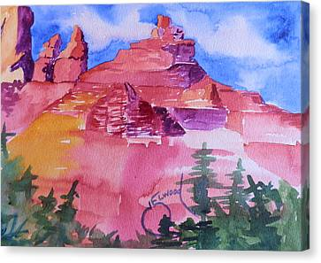 Awesome Red Mountains Canvas Print