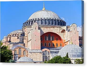 Ayasofya Byzantine Landmark Canvas Print by Artur Bogacki