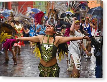 Aztec Dancer - San Miguel De Allende Canvas Print by Craig Lovell