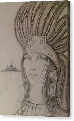 Aztec Princess Canvas Print by  Rene Nava