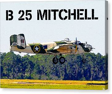 B 25 Mitchell Bomber Canvas Print by David Lee Thompson