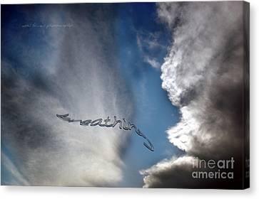 Canvas Print featuring the photograph B R E A T H E by Vicki Ferrari