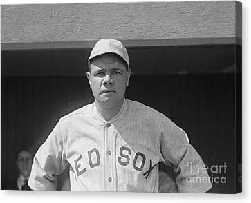 Babe Ruth 1919 Canvas Print by Padre Art