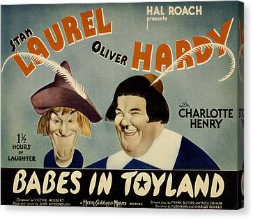 Babes In Toyland,from Left, Stan Canvas Print by Everett