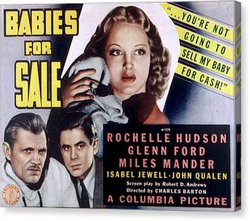 Babies For Sale, Glenn Ford Center, 1940 Canvas Print by Everett