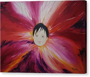 Baby Bloom Canvas Print by Navjeet Gill