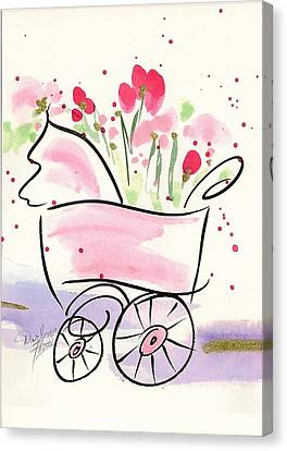 Baby Buggy Note Card Canvas Print