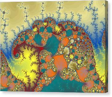 Baby Elephant Canvas Print by Mark Greenberg