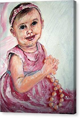 Baby Girl 2 Canvas Print by Amanda Dinan