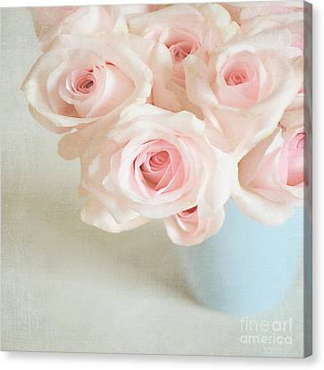 Baby Pink Roses Canvas Print by Lyn Randle