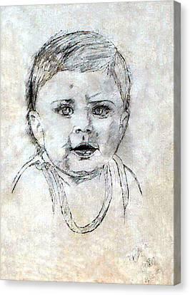 Baby Portrait  Canvas Print
