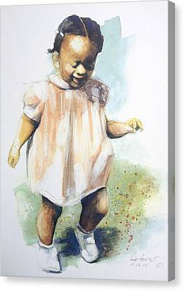 Baby Steps Canvas Print by Gregory DeGroat