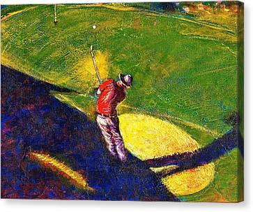 Babyboomer Golfing Canvas Print by Ion vincent DAnu