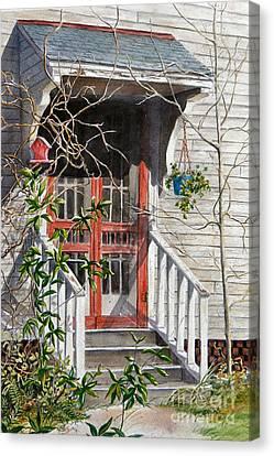 Back Door Friends  Sold Canvas Print