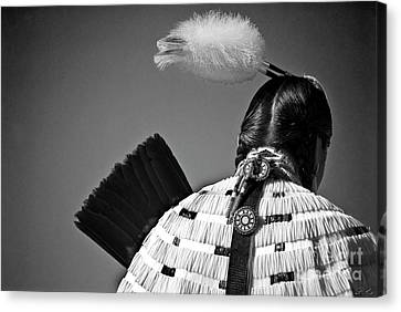 Back Feather Canvas Print by Diego Re