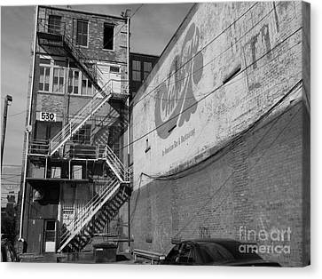Canvas Print featuring the photograph Back Of Historic Louisville Building by Utopia Concepts