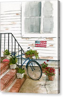 Canvas Print featuring the painting Back Step by Nancy Patterson