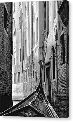 Canvas Print featuring the photograph Back Street Gondola by Graham Hawcroft pixsellpix