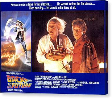 Back To The Future, Christopher Lloyd Canvas Print by Everett