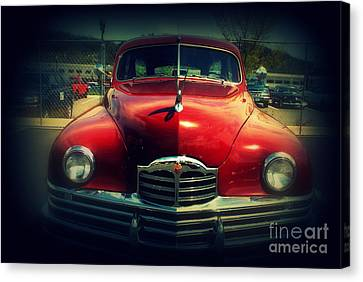 Back To The Future Packard Canvas Print by Susanne Van Hulst