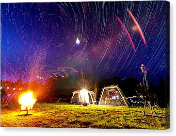 Back Yard Camping Canvas Print by Aaron Priest