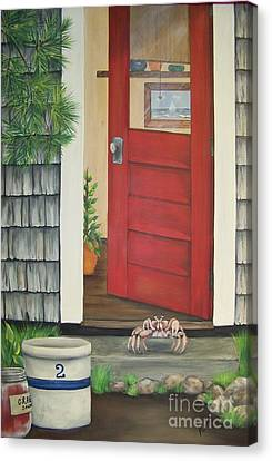 Backdoor Visitors Three  Canvas Print by Lin Ruch