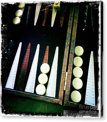 Canvas Print featuring the photograph Backgammon Anyone by Nina Prommer