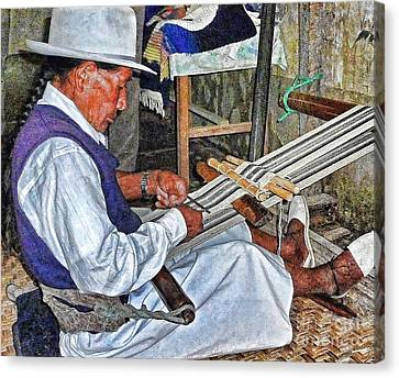 Backstrap Loom - Ecuador Canvas Print by Julia Springer