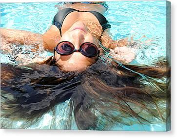 Backstroke II  Canvas Print by Leah Silberman
