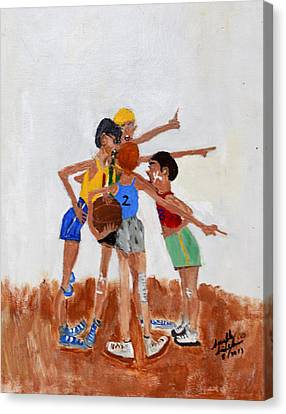 Backyard Basketball Canvas Print by Swabby Soileau