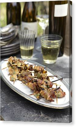 Bacon Wrapped Hors D'oeuvres Canvas Print by James Baigrie