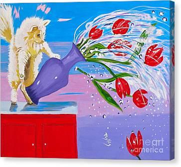 Bad Kitty Canvas Print by Phyllis Kaltenbach