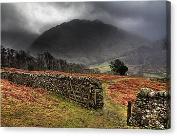 Bad Weather Over Seatoller Canvas Print by Image by Roger Fleet.