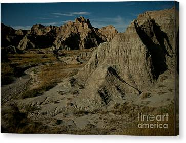 Badlands By Moonlight Canvas Print by Chris Brewington Photography LLC