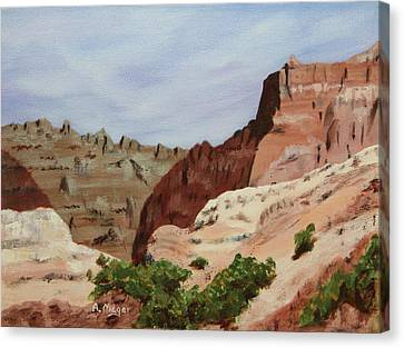Badlands I Canvas Print by Alan Mager