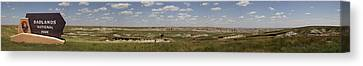Badlands Panorama Canvas Print by Michael Flood