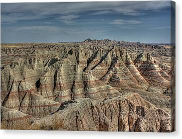 Badlands Canvas Print by Photo by Mike Kline (notkalvin)