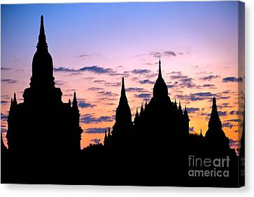 Canvas Print featuring the photograph Bagan by Luciano Mortula