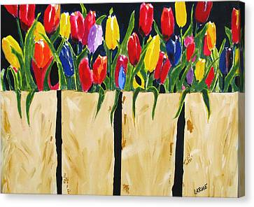 Bagged Tulips Canvas Print by Ron LaRue